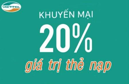 Viettel Khuyen Mai 20 Cho The Nap 20k Tu Ngay 19 21 2 2019