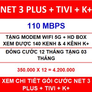 Combo Net 3 Tivi K+ 12 Th