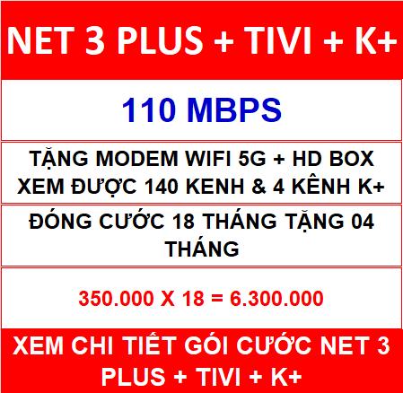 Combo Net 3 Tivi K+ 18 Th