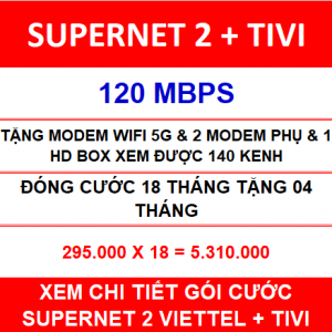 Supernet 2 + Tivi + 18 Th