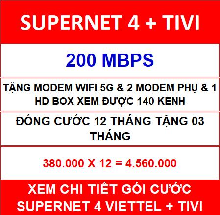 Supernet 4 + Tivi 12 Th