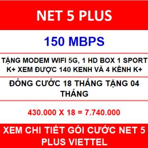 Net 5 Plus Viettel 18 Th