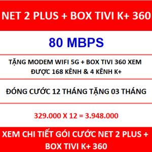 Net 2 Plus Box Tivi K+ 360 12 Th
