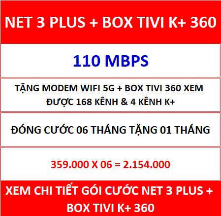 Net 3 Plus Box Tivi K+ 360 06 Th