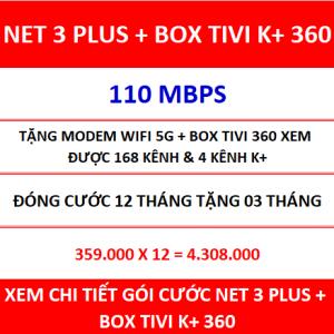 Net 3 Plus Box Tivi K+ 360 12 Th