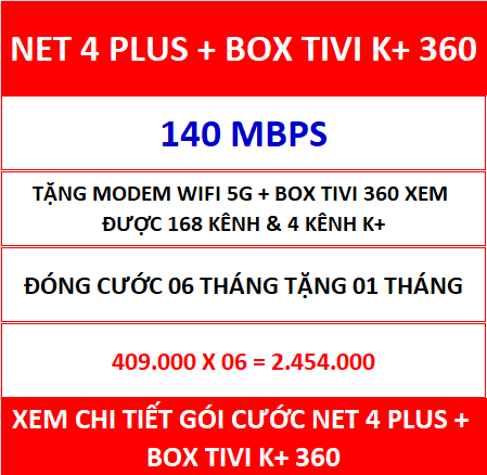 Net 4 Plus Box Tivi K+ 360 06 Th