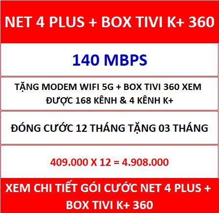 Net 4 Plus Box Tivi K+ 360 12 Th