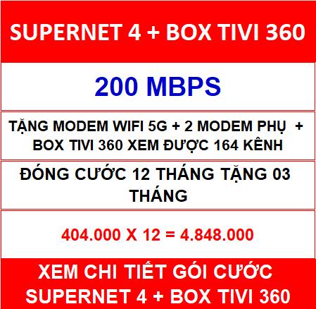 Supernet 4 Box Tivi 360 12 Th