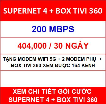 Supernet 4 Box Tivi 360
