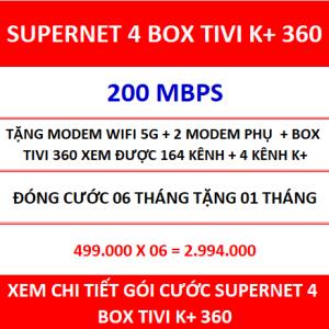 Supernet 4 Box Tivi K+ 360 06 Th