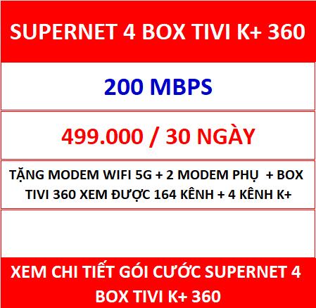 Supernet 4 Box Tivi K+ 360