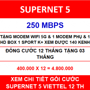 Supernet 5 Viettel 1 Home Wifi 12 Th