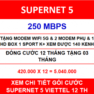Supernet 5 Viettel 2 Home Wifi 12 Th