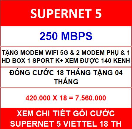 Supernet 5 Viettel 2 Home Wifi 18 Th