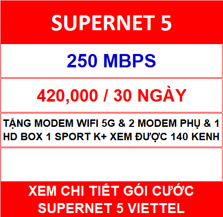 Supernet 5 Viettel 2 Home Wifi